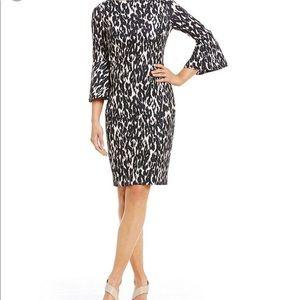 Calvin Klein Dresses - Calvin Klein bell-sleeve Animal Print dress